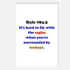 Rule 84.5 Surrounded by Turkeys Postcards (Package