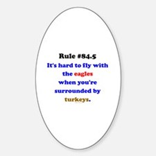 Rule 84.5 Surrounded by Turkeys Decal
