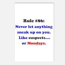 Rule 86 Nothing Sneaks Up On You Postcards (Packag