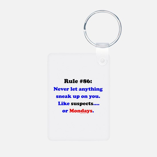 Rule 86 Nothing Sneaks Up On You Keychains