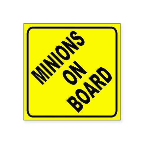 Minions on Board Car Sign Sticker