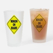 Minion on Board Car Sign Drinking Glass