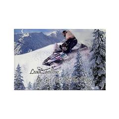 SnowMobiler Magnet w/ Inspire Cliche