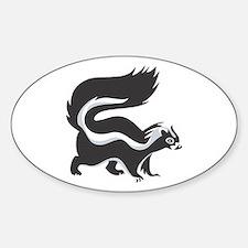 Skunk Oval Bumper Stickers