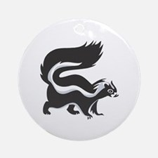 Skunk Ornament (Round)