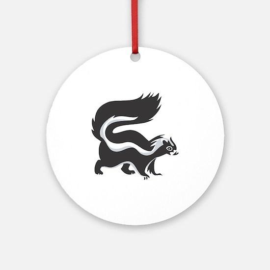 Skunk Ornament (Round)