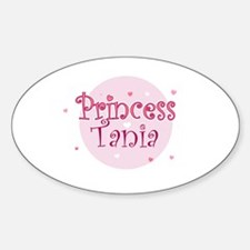 Tania Oval Decal
