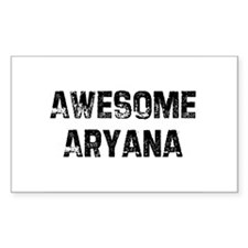 Awesome Aryana Rectangle Decal