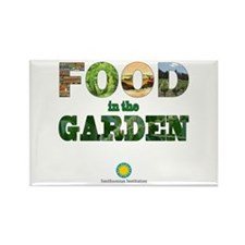 FOOD in the Garden Rectangle Magnet