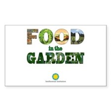 FOOD in the Garden Sticker (Rectangle)