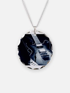 Vintage Guitar - Blue Tone Necklace