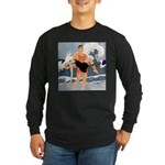 Life Guard Long Sleeve Dark T-Shirt