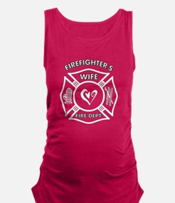 Firefighter Wife Maternity Tank Top