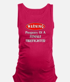 Female Firefighter Property Maternity Tank Top