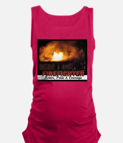 Firefighter Honor Pride Courage Maternity Tank Top