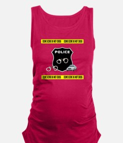 Police Crime Scene Maternity Tank Top