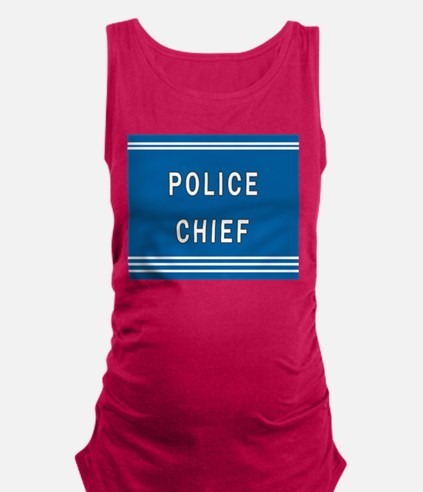 Police Chief Maternity Tank Top