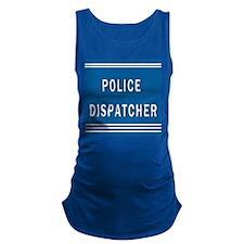 Police Dispatcher Blues Maternity Tank Top