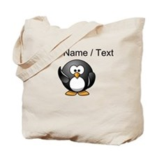 Custom Waving Penguin Tote Bag