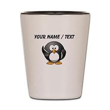 Custom Waving Penguin Shot Glass
