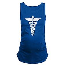 Medical Symbol Caduceus Maternity Tank Top