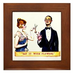 Say It With Flowers Framed Tile