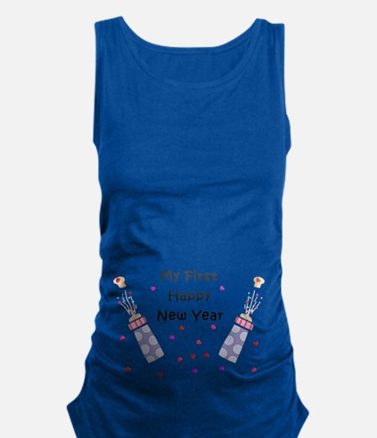 Babys First New Year Maternity Tank Top