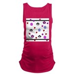 Hearts and Flowers.jpg Maternity Tank Top
