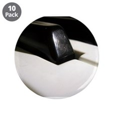 """Piano Keys Close Up 3.5"""" Button (10 pack)"""