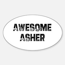 Awesome Asher Oval Decal