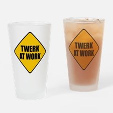 Twerk At Work Drinking Glass