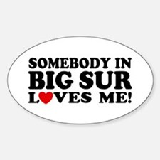 Somebody In Big Sur Loves Me Decal