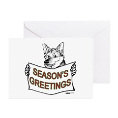 Season's Greetings Dog Greeting Cards (Package of
