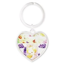 Lavender baby Heart Keychain