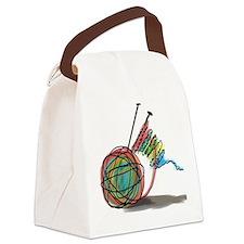 Cute Yarn sheep Canvas Lunch Bag