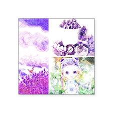 "Lavender baby Square Sticker 3"" x 3"""