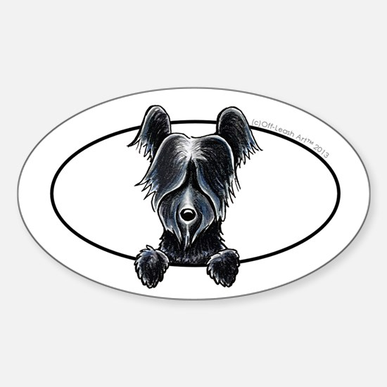 Skye Terrier Peeking Decal