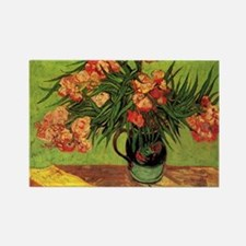 Van Gogh; Still Life Vase with Ol Rectangle Magnet