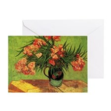 Van Gogh; Still Life Vase with Olean Greeting Card