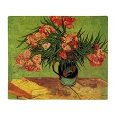 Van Gogh; Still Life Vase with Olean Throw Blanket