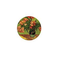 Van Gogh; Still Life Vase with Oleande Mini Button