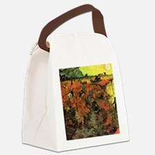 The Red Vineyard by Van Gogh Canvas Lunch Bag