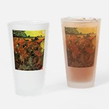 The Red Vineyard by Van Gogh Drinking Glass