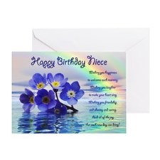 Birthday card for niece with forget me nots Greeti