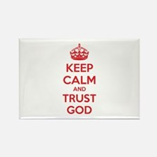 Keep calm and trust god Rectangle Magnet