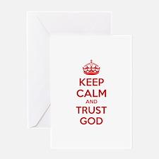 Keep calm and trust god Greeting Card