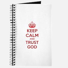 Keep calm and trust god Journal