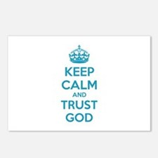 Keep calm and trust god Postcards (Package of 8)