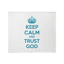 Keep calm and trust god Stadium Blanket
