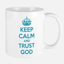 Keep calm and trust god Small Small Mug